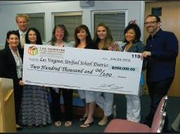 T.H.E. Foundation donates to LVUSD
