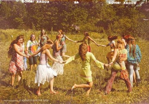 Hippie girl painting