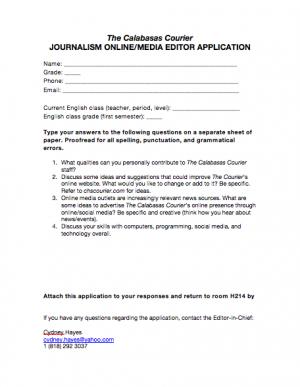 Online Editor application