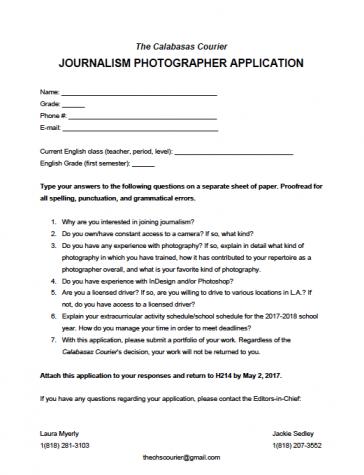 Photographer Application