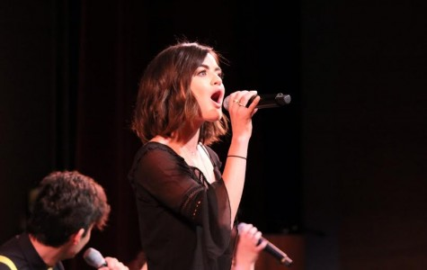 "Lucy Hale challenges students to ""boost the volume"" against meningococcal meningitis"