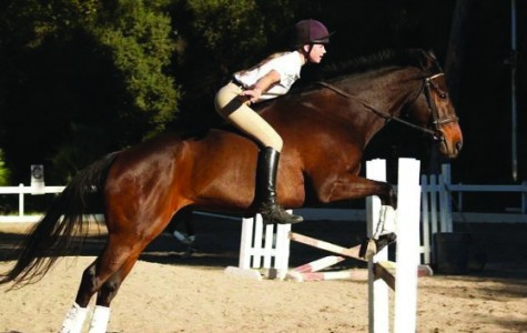 Horseback rider senior Sadia Buchenau makes her way to Germany