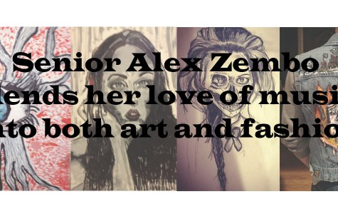 Senior Alex Zembo blends her love of music into both art and fashion