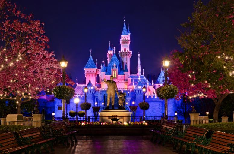 Senior Taylor Owens dances through Disneyland's  Adventure Park while making dreams come true