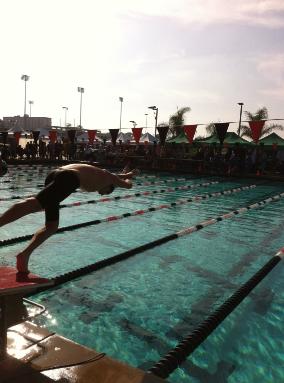 Denis Reznik breaks CHS swim records