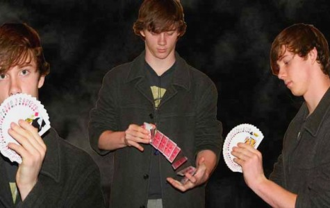 Magician Garrett Orness captivates his audience with countless card tricks and enticing performances