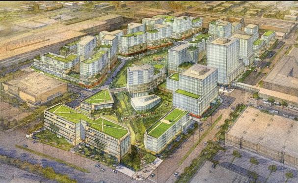 Warner+Center+begins+expanding+at+the+old+Rocketdyne+facilities