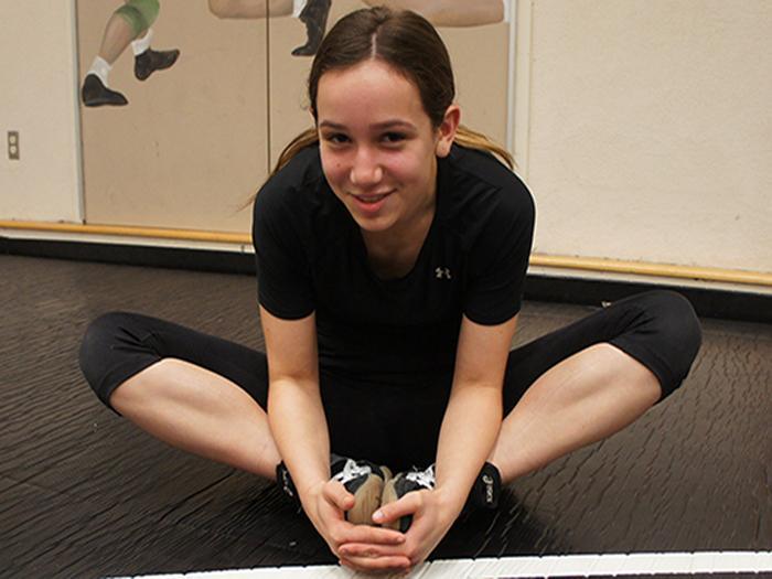 Freshman Claudia Zimmerman thrives as the only girl varsity wrestler
