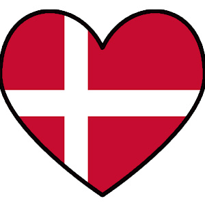 Denmark Flag heart
