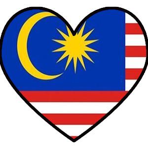 Malaysia Flag heart