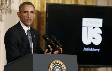 "Obama announces the ""It's On Us"" campaign to encourage taking an active stand against sexual assault"