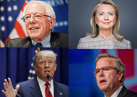 Leading candidates for the 2016 presidential election