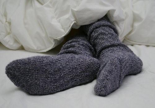 Sleeping in socks and bras is harmful